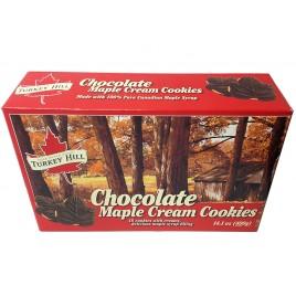 Chocolate maple cream cookies