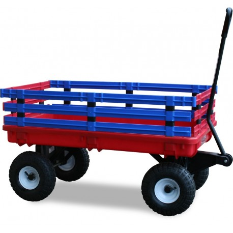 Wagen Trakker in rot-blau