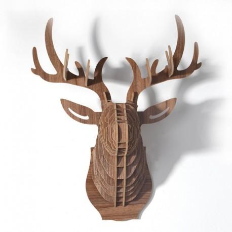 Brown Deer Head in wood