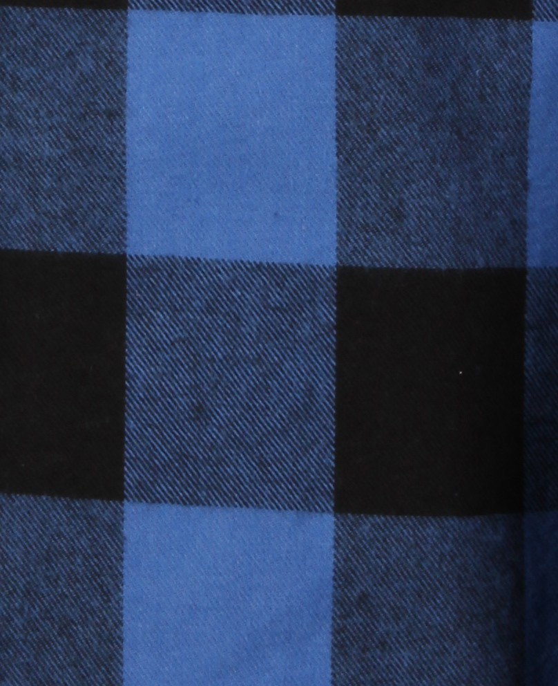 Plaid bleu